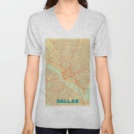Dallas Map Retro Unisex V-Neck