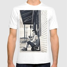 South Tacoma Skater  MEDIUM Mens Fitted Tee White