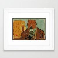 phil jones Framed Art Prints featuring Punxsutawney Phil by Derek Eads
