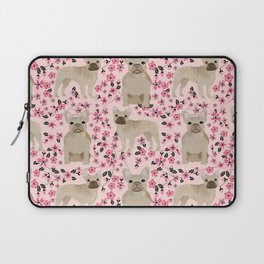 French Bulldog fawn coat cherry blossom florals dog pattern floral dog breeds Laptop Sleeve