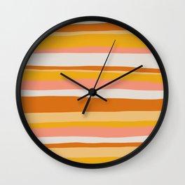 sedona, desert stripes Wall Clock