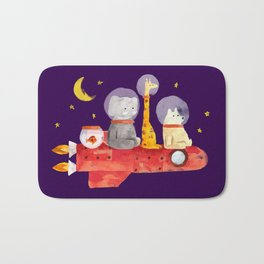 Let's All Go To Mars Bath Mat