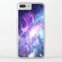 Starry Galaxy Space - Untouchable Vastness Clear iPhone Case