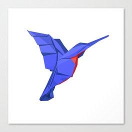 Origami Colibri Canvas Print