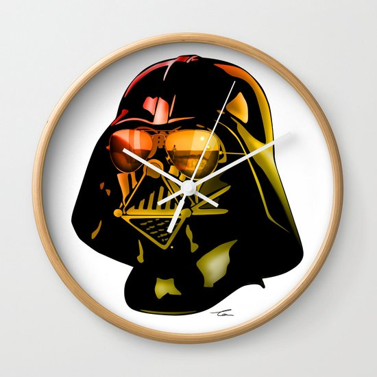 Star Wars Darth Vader Wall Clock By Tom Brodie Browne