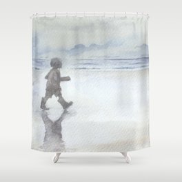 Welly Walk By The Sea Shower Curtain