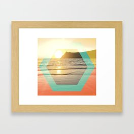 Port Erin - color graphic Framed Art Print