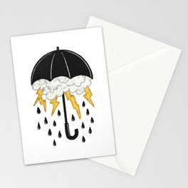 Umbrealla Storm Stationery Cards
