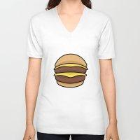 burger V-neck T-shirts featuring BURGER by KODYMASON