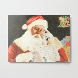 Letter to Santa Claus Metal Print