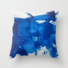 The blue goddess Throw Pillow