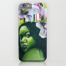 Green Lilly iPhone Case