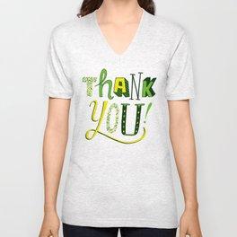 Thank You! Unisex V-Neck