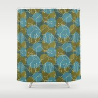 martini Shower Curtains featuring Tipsy Martini by Laurie Spugnardi