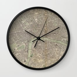 Vintage Map of London England (1843) Wall Clock