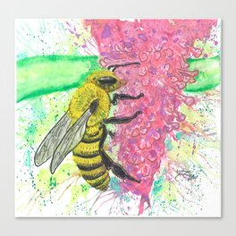 Honey Bee in Watercolor Canvas Print