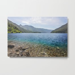 Crescent Lake Olympic Peninsula Metal Print