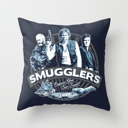 Smugglers Three Throw Pillow