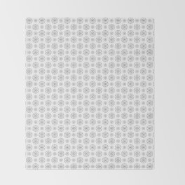 White Seed Of Life Pattern Throw Blanket