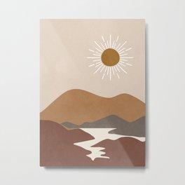 Minimalistic Landscape II Metal Print