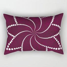 Zen Floral Mandala Rectangular Pillow