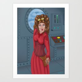 Strampunk pilot Art Print