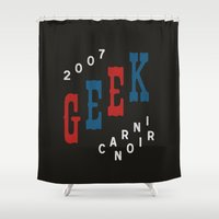 geek Shower Curtains featuring Geek by The Provincial Trading Co.