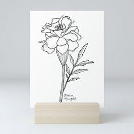 October Marigold Birth Flower Mini Art Print