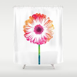 Gerbera flower Shower Curtain