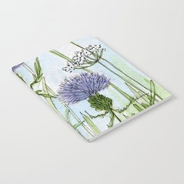 Thistle White Lace Watercolor Notebook