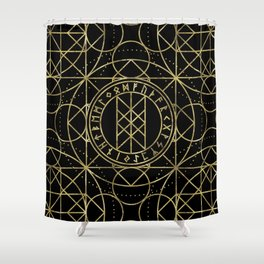 Web of Wyrd  -The Matrix of Fate Shower Curtain