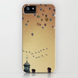 Innumerable wandering balloons iPhone Case
