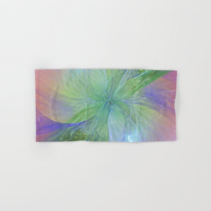 Mystic Warmth Abstract Fractal Hand & Bath Towel