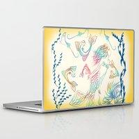 mermaid Laptop & iPad Skins featuring Mermaid by famenxt