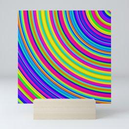 Rainbow Rings Mini Art Print