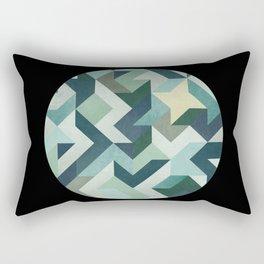 circle geometry (Black Background) Rectangular Pillow
