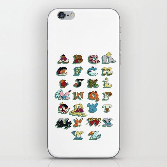 The Disney Alphabet - White Background iPhone & iPod Skin