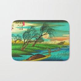 Seba Ohta River Japan Ukiyo e Art Bath Mat