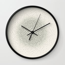 butterflies flying in a circle scatter in different directions. pastel Wall Clock