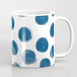blue polka dots Coffee Mug