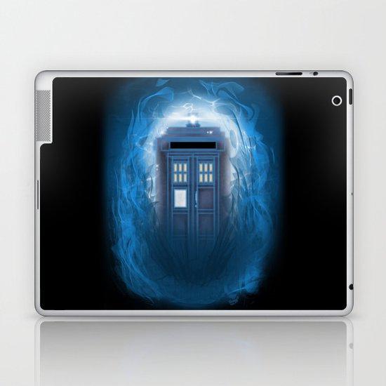 Through the Time Stream Laptop & iPad Skin