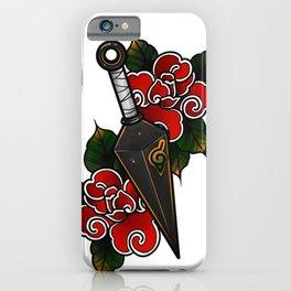 Naruto Kunai Akatsuki Rose iPhone Case