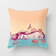 Naiad Lady Throw Pillow