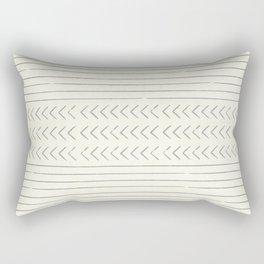 arrow stripes - gray on cream Rectangular Pillow