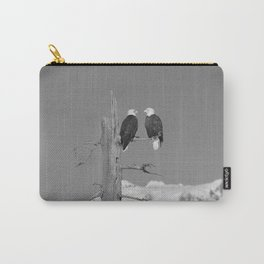 Perched With A View Duo - B & W Carry-All Pouch