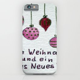 Holiday Greetings iPhone Case
