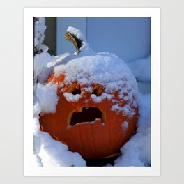 A White Halloween Art Print