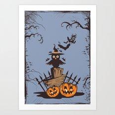 Halloween Owl Art Print