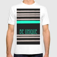 Be Unique White Mens Fitted Tee MEDIUM