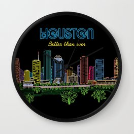 Houston Better Than Ever Circuit Wall Clock